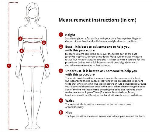 Marko Amber M-260 Bezaubernder Bikini-Set, Neckholder, Top Qualität, Made In EU Schwarz-Weiß