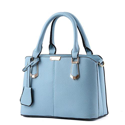 fanhappygo Damen Neuheiten Handtaschen Designer pu Leder Handtaschen Umschlag Schulterbeutel Umhängetaschen Tote blau