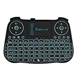 DQiDianZ Mini Tastiera Wireless 2.4G touchpad retroilluminata Tastiera Wireless per Smart TV Android Box...
