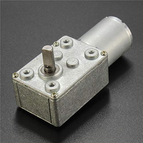 Reversible High Torque Turbo Worm Geared Motor Reducer Motor GW370 DC 12V 0.6RPM