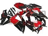 LoveMoto Verkleidung für GSX-R600 GSX-R750 K8 2008 2009 2010 08 09 10 GSXR 600 750 ABS Spritzguss Kunststoff-Motorradverkleidung-Sets Schwarz Rot