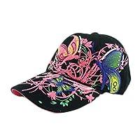 Koly Embroidered Baseball Cap Lady Fashion Shopping Cycling Duck Tongue Hat (B)