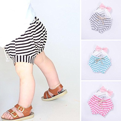 Covermason Niños Ropa Venta de liquidación Newborn Infant Baby Girls Boys Shorts a rayas Summer Bottoms Bloomers(12M, Azul)