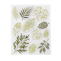 Prosperveil Leaves Collection Clear Stamp Scrapbooking Card Making Crafting Silicone Stamps for Birthday Wedding Christmas DIY Art Decoration