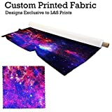 L&S PRINTS FOAM DESIGNS Galaxy 1 Design Digital Print 145 g Polyester bedruckter Stoff 56