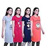 Best Simple Cotton Rounds - TRAZO Women's Cotton Printed Round Neck Half Sleeves Review