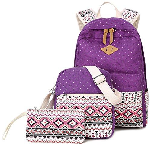 Ghlee , Sac à main porté au dos pour femme violet
