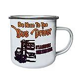 Sii sempre gentile con il conducente di autobus Retro, Tin, Smalto 10 oz/280ml boccale aa108e