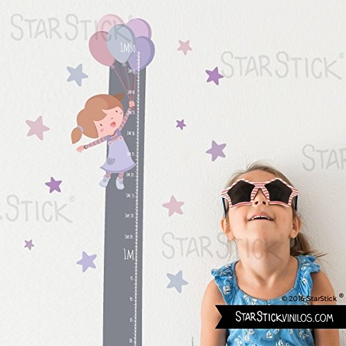 StarStick - Medidor Niña globos - Vinilos infantiles