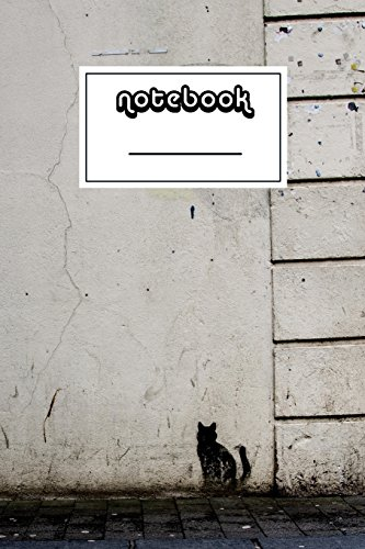 Notebook: Street Art with Cat Notebook | Beautiful 100-Page College-Ruled Work Book to Write in | Stylish 6 X 9 Lined Journal (Art Notebooks) -