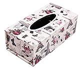 #4: Livzing Tissue Paper Holder Box Storage Cover Case Facial Napkin Holder - Rectangular PU Leather MDF Wood - 24 * 12 * 8 - Assorted Color