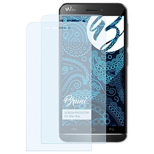 Bruni Schutzfolie kompatibel mit Wiko Wax Folie, glasklare Bildschirmschutzfolie (2X)