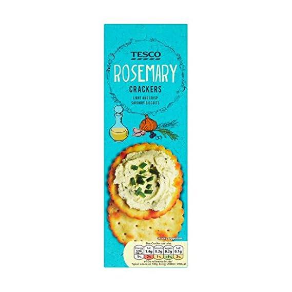 Tesco Rosemary Savoury Biscuit Crackers Box, 185g