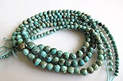 Natural Sleeping Beauty Turquoise Round Beads, Faceted Arizona Turquoise, 5mm To 8mm Beads, 16 Inch Strand