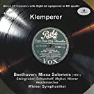 LP Pure, Vol. 33: Klemperer Conducts Beethoven - Missa Solemnis (Historical Recording)