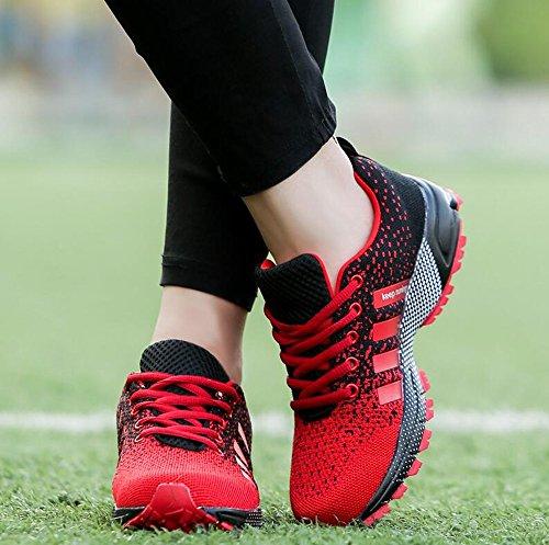 Uomo Donna Scarpe Da Sportive Running Basket Sneakers Estive Nero Rosso Blu Verde Rosa Rosso
