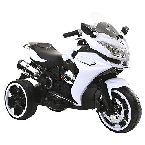 kidfun Moto Motocicletta Elettrica per Bambini 12V Bianca