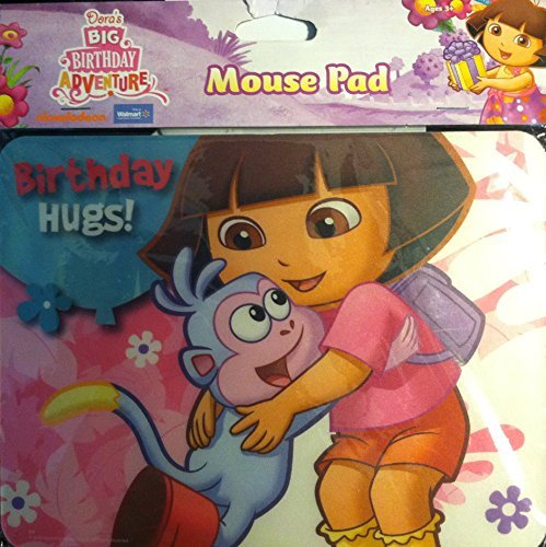 Dora the Explorer Dora's Big Birthday Adventure Mouse Pad by Best Brands (Big Dora)
