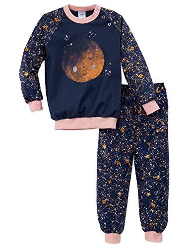 Calida Baby-Mädchen Toddlers Stars Zweiteiliger Schlafanzug, Blau (Peacoat Blue 488), (Herstellergröße: 80)