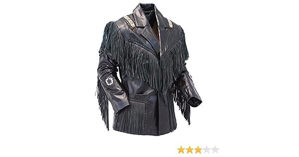 classyak Veste de cowboy western en cuir à franges pour femme  Amazon.fr   Vêtements et accessoires 14cdbb17288e
