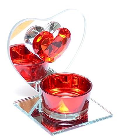 Teelichthalter Teelicht Kerzenhalter Kerzenglas Teelichtglas Herz Ritzenhoff & Breker (Herz Glas Teelicht)