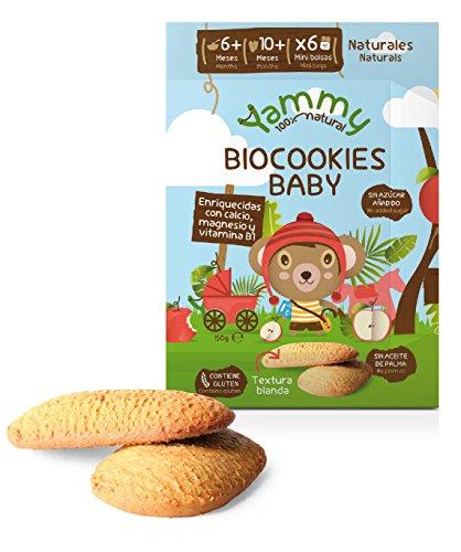 Yammy - Galletas Sin Azúcar Ecológicas Bebé 6 Meses Pack 6 x...