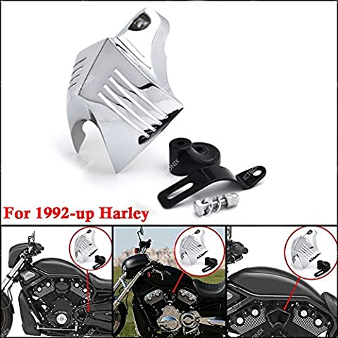 Motorrad Hupen Abdeckung Chrom Horn Cover für 1992-2014 Harley Davidson V Twin Cam Style