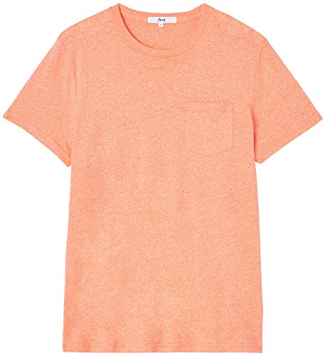 FIND Herren T-Shirt mit Brusttasche Orange (Vermillion Orange)