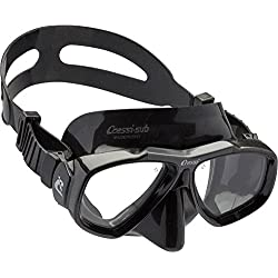 Cressi Focus Masque de Plongée Snorkeling Adulte, Compatibles Verres Correcteurs Noir