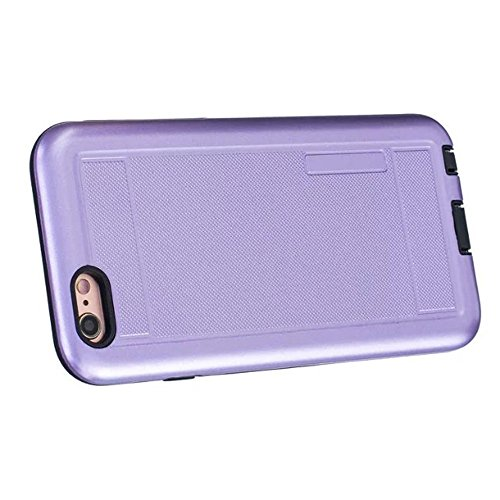 iPhone Case Cover 2 in 1 neue Rüstung Solid Color Dot Muster mattiert Stil Hybrid Dual Layer Rüstung Defender PC Hard zurück Fall Deckung Shockproof Fall Für Apple IPhone 5S SE ( Color : Gray , Size : Purple