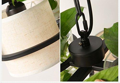 Illuminazione lampadario verde pianta vaso di fiori lampadario
