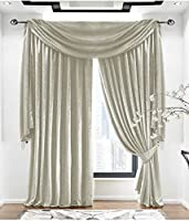 "Plain Velvet Pale Gold Lined 46"" X 90"" - 117cm X 229cm Pencil Pleat Curtains from Curtains"