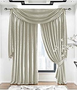 """Plain Velvet Pale Gold Lined 46"""" X 90"""" - 117cm X 229cm Pencil Pleat Curtains from Curtains"""