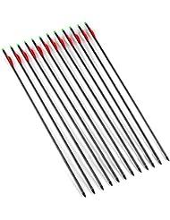 """VERY100 12piezas x 30"""" Flechas Reemplazables de Carbono para Arco Compuesto Tiro con Arco"""