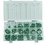 climatizadores Junta tórica de surtido verde 3–22mm de diámetro, 225de piezas anillo Juego de R134A goma Juntas Juntas Herramientas de Aire Acondicionado Aire Acondicionado Verde
