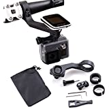 holaca (31,8/25,4 mm) GPS Delante Bike Mount, juego de soportes para Polar Smart GPS ordenador para bicicleta V650 M450 + Gopro/SJ CAM/Sony/Garmin Virb X y XE, color 9-in-1 Polar Bracket Pack for Sports Cameras