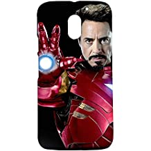Fancy Interio - The Iron Man Printed Hard Back Case Cover For Motorola Moto E3 Power