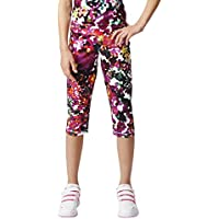 adidas YG W 3/4 Tg Q2 - Pantalón pirata para niña, color negro/blanco/plata, talla 158