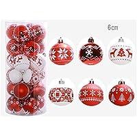 Boules de Noël multicolores décorations Set de 24 boules de Noël de luxe Décoration d'arbre traditionnel Noël festif sur le thème des boules Flyvirtue