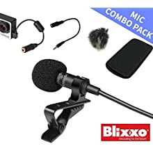 Professional lavalier lapel microphone Omnidirectional condenser mini microphone/tie clip microphone a full set of windscreens to remove noice