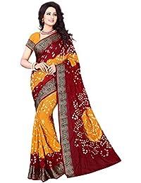 Esomic Women's Bhagalpuri Saree With Blouse Piece (Bh_Less Box Saree Printed_Multi-Coloured)