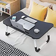 Laptop Desk, Biki Portable Laptop Bed Tray Table Notebook Stand Reading Holder with Foldable Legs & Cup Sl