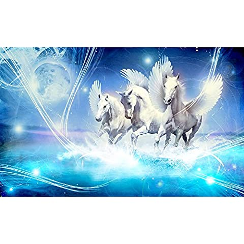 Cavallo Pegasus foto carta da parati foto carta da parati murale, Tessuto non tessuto, XXL: 3,10 x 2,19 m, 3 pezzi - Tessuto Cavallo
