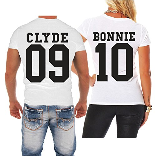 *Partnershirt Bonnie & Clyde BLACK (mit Rückendruck)*
