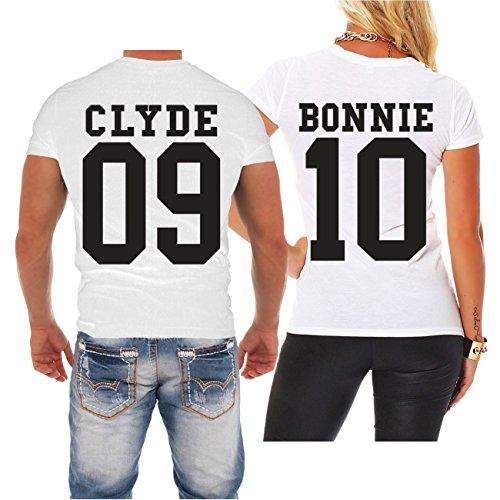 *Partnershirt Bonnie & Clyde BLACK (mit Rückendruck)*