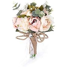 0762573cafa6 yunhigh flores artificiales de la boda ramo de la mano ramo de novia ramos  de flores