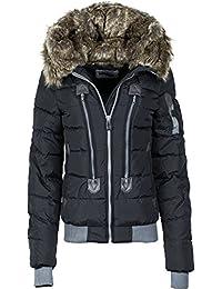 eaf6397b6811 Damen Winter Jacke Mantel Regenjacke mit Oder Ohne Fell und Kapuze Sportlich  Outwear