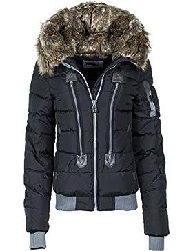 Authentic Style - Abrigo impermeable - chaqueta guateada - para mujer