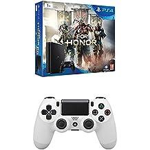 PlayStation 4 Slim (PS4) 1TB - Consola + For Honor + DualShock 4 Glacier White V2 adicional