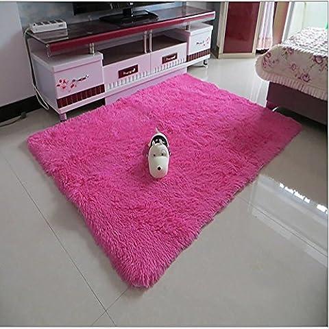 New day-Ultra - morbida seta lungo - haired soggiorno tavolino tappeto tappeto camera da letto non - tappetini antiscivolo , red , 200*300cm